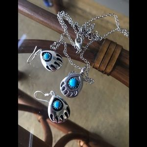 💐Turquoise 925 Stirling Silver Set